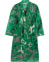 Grünes bedrucktes Gerade Geschnittenes Kleid von Diane von Furstenberg