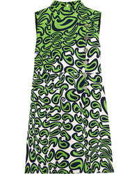 Grünes bedrucktes Gerade Geschnittenes Kleid von Miu Miu