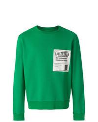 grünes bedrucktes Sweatshirt