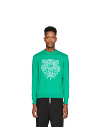 grünes bedrucktes Sweatshirt von Kenzo