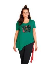 grünes bedrucktes T-Shirt mit einem Rundhalsausschnitt von SHEEGOTIT