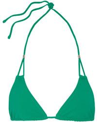 grünes Bikinioberteil mit Ausschnitten von Heidi Klein