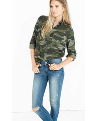 grünes Camouflage Jeanshemd