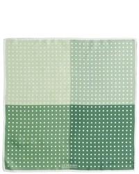 grünes gepunktetes Einstecktuch