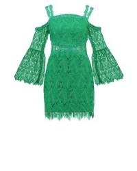 Grünes Gerade Geschnittenes Kleid aus Häkel von Three floor