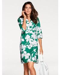 grünes gerade geschnittenes Kleid mit Blumenmuster von PATRIZIA DINI by Heine