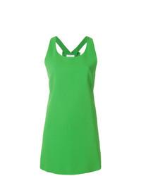grünes gerade geschnittenes Kleid von Capucci