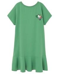 grünes gerade geschnittenes Kleid von Mango