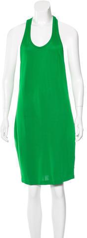 grünes gerade geschnittenes Kleid von Barbara Bui