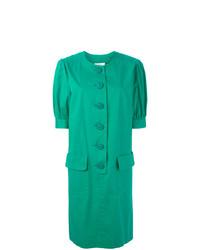 grünes gerade geschnittenes Kleid von Yves Saint Laurent Vintage