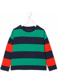 grünes horizontal gestreiftes T-shirt