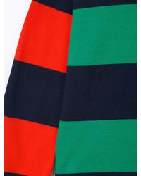 grünes horizontal gestreiftes T-shirt von Stella McCartney