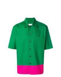 grünes Kurzarmhemd von AMI Alexandre Mattiussi