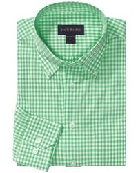 grünes Langarmhemd mit Vichy-Muster