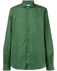 grünes Langarmhemd von Boglioli