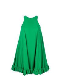 grünes schwingendes Kleid