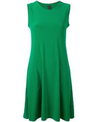 grünes schwingendes Kleid von Norma Kamali