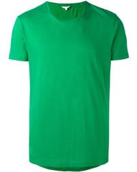 grünes T-Shirt mit einem Rundhalsausschnitt