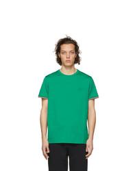 grünes T-Shirt mit einem Rundhalsausschnitt von Moncler