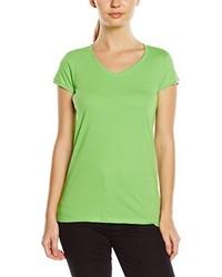 3727a3cb819a Modische grünes T-Shirt mit einem V-Ausschnitt für Damen für Winter ...
