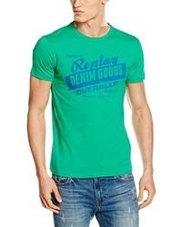 grünes T-shirt von Replay