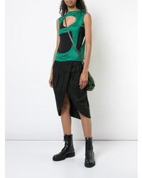 grünes Trägershirt mit Destroyed-Effekten von Rick Owens