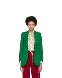 grünes Wollsakko von Gucci