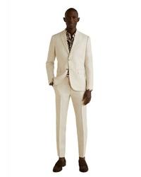 hellbeige Anzug von Mango Man