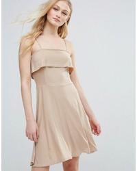 Hellbeige Ausgestelltes Kleid von Daisy Street