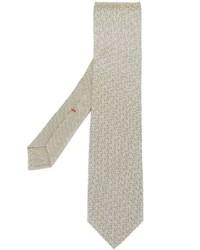 hellbeige bedruckte Krawatte