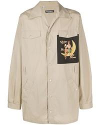 hellbeige bedruckte Shirtjacke von Dolce & Gabbana