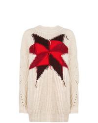 hellbeige bedruckter Oversize Pullover von Isabel Marant