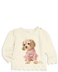 hellbeige bedruckter Pullover