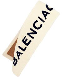 hellbeige bedruckter Schal von Balenciaga