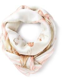 hellbeige bedruckter Schal von Salvatore Ferragamo