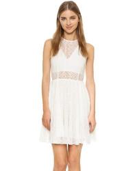 hellbeige besticktes Kleid von Rebecca Minkoff