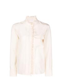 hellbeige Bluse mit Knöpfen von Chloé