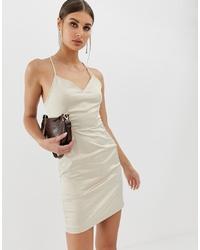 hellbeige Camisole-Kleid von NA-KD