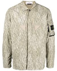 hellbeige Camouflage Shirtjacke von Stone Island