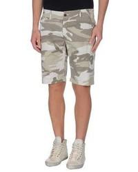 hellbeige Camouflage Shorts
