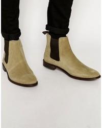 hellbeige Chelsea Boots aus Wildleder von Asos