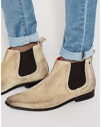 hellbeige Chelsea Boots aus Wildleder von Base London