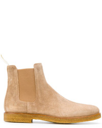 hellbeige Chelsea Boots aus Wildleder von Common Projects