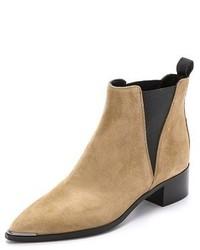hellbeige Chelsea-Stiefel aus Wildleder von Acne Studios