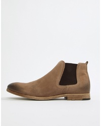 hellbeige Chelsea-Stiefel aus Wildleder von Aldo