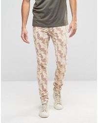 hellbeige enge Jeans von Asos