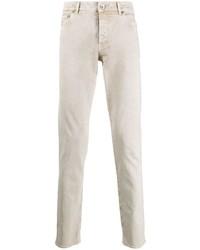 hellbeige enge Jeans von Brunello Cucinelli