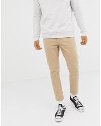 hellbeige enge Jeans von New Look
