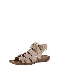hellbeige flache Sandalen aus Wildleder von Josef Seibel