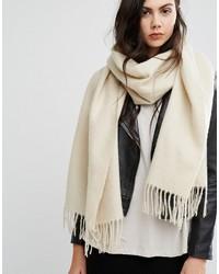 hellbeige geflochtener Schal von Asos